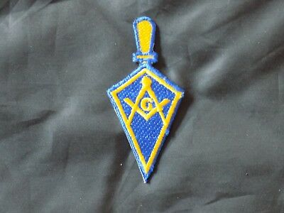 Masonic Trowel Shape Patch Square Compass Blue Lodge Iron Sew Fraternity NEW!