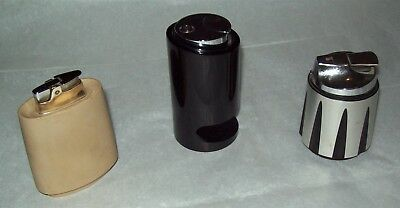 3 Vintage Ronson Table Cigarette Lighters/Mid-Century Modern/West Germany
