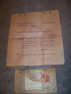 SECRET ORDERS August 1944 FALMOUTH U.S. LCT 415 Empire Belle WEYMOUTH BAY
