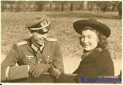 **RARE: Wehrmacht Leutnant On Leave w/ His Girl; AFRIKA KORPS Cuff Title Worn!**