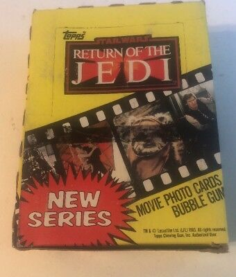 1983 Series 2 Topps Return Of The Jedi Star Wars Box Unopened Cards