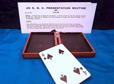 Antique Wood Flap Card Box Utility Magic Unknown Rare Collectible