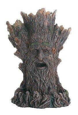 Whispering Tree Spirit Backflow Incense Burner Holder Mystical Fantasy Greenman