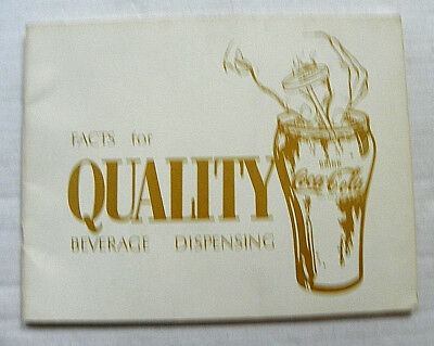 """1966 """"DRINK COCA-COLA ~ FACTS FOR QUALITY BEVERAGE DISPENSING"""" 34 Pages BOOKLET"""