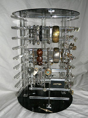Professional Store Jewelry Carousel Display 4 Sided 9 Tier 72 Sections + 40 Clip