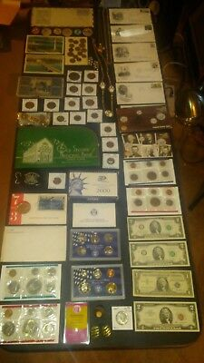 BIG coin LOT collection JEWELRY BANK BAG gold MINT SETS 40%SILVER+NO JUNK DRAWER