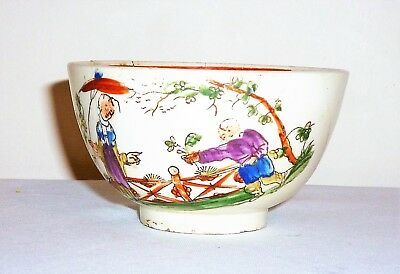 Genuine Antique 17Th-18Thc (?) Oriental Chinese Hand Painted Porcelain Tea Bowl