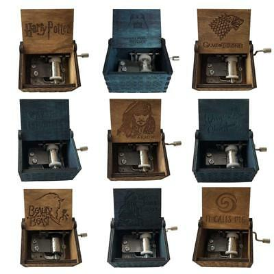 2018 Carved hand crank Wooden Music Box action figure Harry Potter Game of Thron