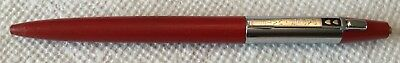Vintage Paper Mate Ballpoint Pen Double Heart Red/Chrome Papermate