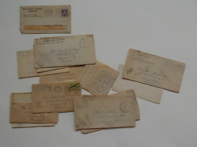 13 WWII Letters 415th Infantry Soldier Army Kansas City Missouri WW2 Lot