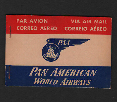 OPC Vintage Pan American Complete Air Mail Etiquette Labels Booklet of 25