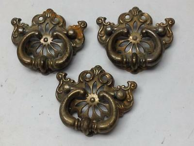 3 Pc 673 4110 Dresser Drawer Handle Pull Furniture Hardware Knobs Vintage