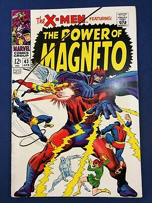 X-Men #43 (1968 Marvel Comics) Magneto appearance Silver Age NO RESERVE