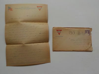 WWI Letter 1919 Blacks South Carolina Thinks More Than Rome Italy Red Cross WW1