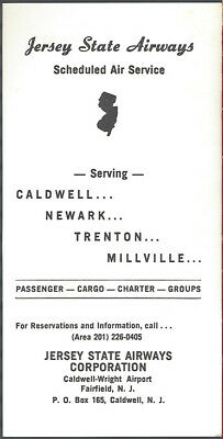 Jersey State Airways system timetable 2/15/65