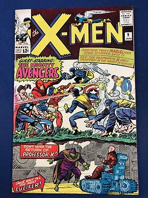 X-Men #9 (1965 Marvel Comics) Avengers Appearance Silver Age NO RESERVE