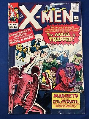 X-Men #5 (1964 Marvel Comics) Magneto Quicksilver Scarlet Witch appearance