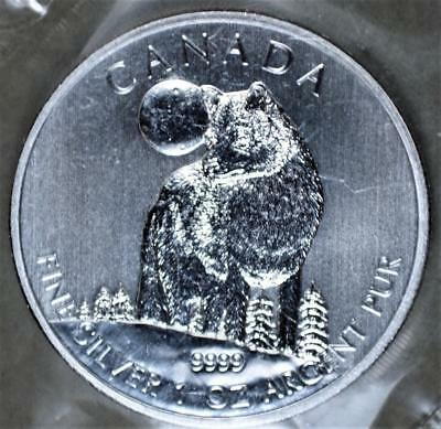 Canada 2011 5 Dollars Wolf 1 Ounce Silver Coin - Mint Sealed