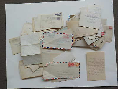 95 Old Letters 1800s-70s Correspondence Collection Lot Covers VTG Paper Stamps