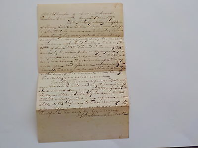 Antique Document 1839 Madison County Tennessee Court Paper Legal VTG Law USA TN
