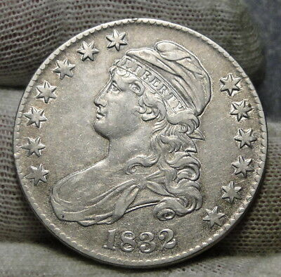1832 Capped Bust Half Dollar 50 Cents - Nice Coin.. Free Shipping  (7211)
