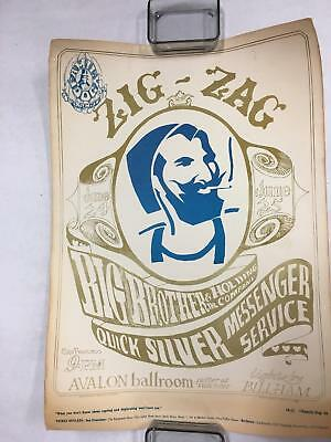 Zig Zag Man Big Brother and the Holding Company 1966 Original Vintage Poster