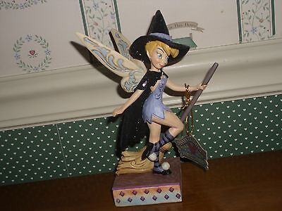 Disney Showcase/jim Shore-Halloween Tinker Bell Witch Figurine-Touch Of Magic