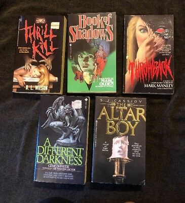 Lot Of 5 Horror Vintage Paperback Great Covers