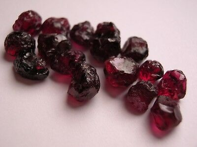 Garnet / Chrome Pyrope, Deep Rich Neon Ruby Red Facet / Cabochon Rough, Arizona