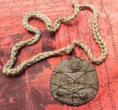 Old Necklace Big famous monk by Lung Por Ngun Wat Bangkran Temple Pijit Province