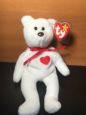 9dc65af150f Ty Beanie Baby Valentino Bear Black Eyes Brown Nose Rare Retired With Errors
