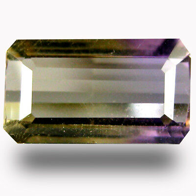 1.55 ct AAA Valuable Octagon Shape (10 x 6 mm) Purple and Yellow Ametrine
