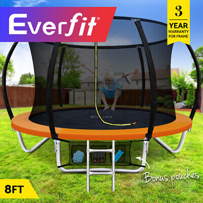 Everfit 8FT Trampoline Round Trampolines Kids Enclosure Safety Net Pad Outdoor