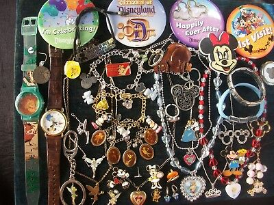 Lot Of Vintage/now Costume Jewelry All Disney Pieces Princesses & Classics