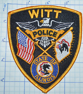Illinois, Witt Police Dept Patch