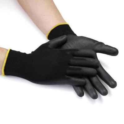 1 Pair PU Nylon Safety Coating Work Gloves Builders Grip Palm Protect S M L XL