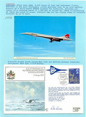 England -1979 Concorde --Ppc + Signed Illustrated Cv ---Vf