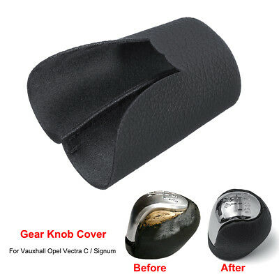 Gear Knob Shift Cover Microfiber Leather For Vaxuhall Opel Vectra C Signum 02-05