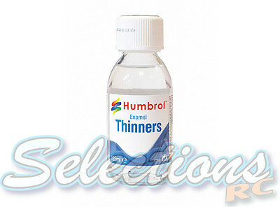 Humbrol Enamel Thinners 125ml Glass Jar Big Bottle With Safety Cap For Paint