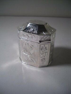 An Antique Dutch Silver Lodderein (Vinaigrette) Box : c1840