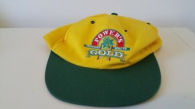 Retro Power's Gold Mid Strength Beer Hat - Yellow