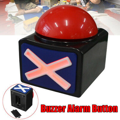 Game Answer Buzzer Alarm Button W/ Sound Light Trivia Quiz Got Talent Buzzer New