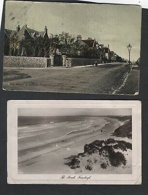 2 Cards Fraserburgh.the Beach.w/f The Manse And Saltoun Place. See Below