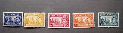 St.helena George Vi Country's Badge. 1938 Short Set Mint Hinged.  Lot#82