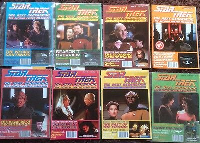 52 Issues Of Official Star Trek The Next Generation Poster Magazines