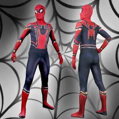 Figuarts Spider-Man Homecoming Iron man boy Costume Cosplay Bodysuit Fancy Dress