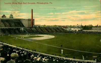 1912 Baseball Stadium Postcard Shibe Park Philadelphia Phillies Game in Progress