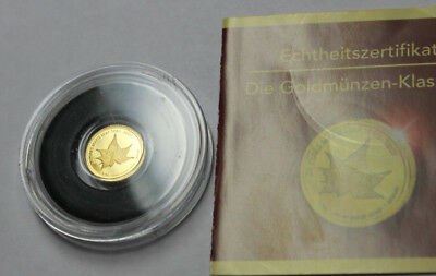 """Die kleinsten Goldmünzen"" - Cook Islands - 1 Dollar 2007 - Maple Leaf"