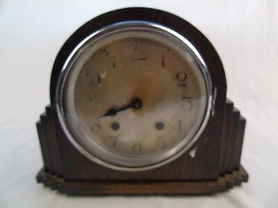Vintage Old Wooden Mantel Clock
