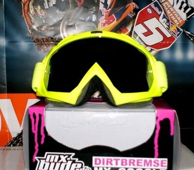 MX Brille Quad MX Enduro NEU Suzuki Scott Neon Gelb verspiegelt Smith Husqvarna